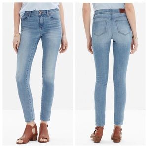 Madewell High Riser skinny crop jeans jazzy wash